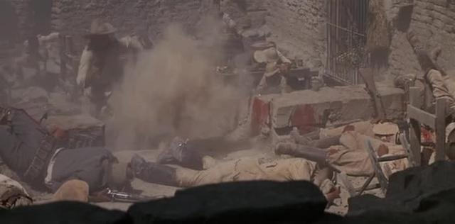 The Wild Bunch:  Final Shootout (:14 excerpt, Lyle on the machine gun)