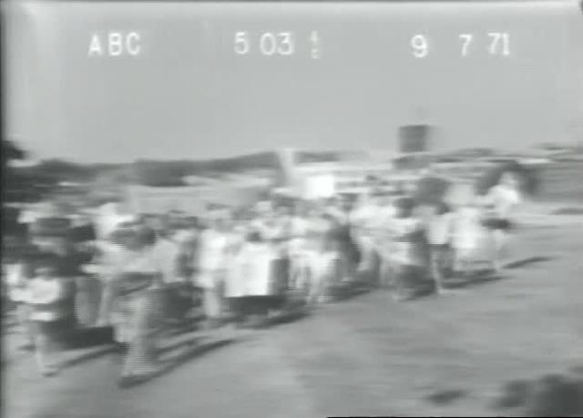 Irene McCabe and NAG protest busing at school board office - 9-7-71 - ABC