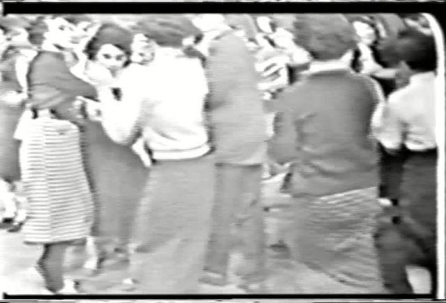 American Bandstand - Close-up shot of couples dancing - 1957