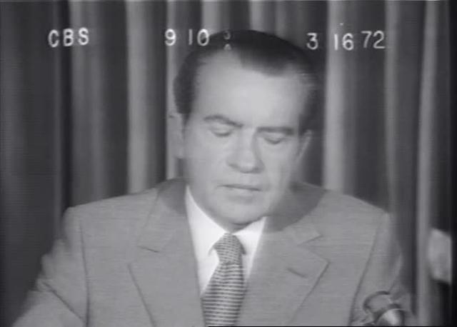 "President Nixon on ""massive busing"" 3-16-72 - CBS"