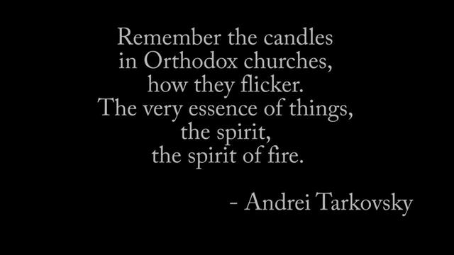Andrei Tarkovsky's Cinematic Candles [by Kevin B. Lee]