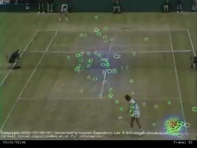 Eye Movements Watching Wimbeldon McEnroe Borg Match