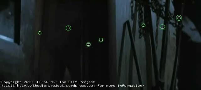 There Will Be Blood with gaze locations of 11 viewers [by TheDIEMProject / Tim J. Smith]