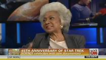 Nichelle Nichols, who played Nyota Uhura on Star Trek, discussed how Dr. Martin Luther King personally convinced her not to quit the show.