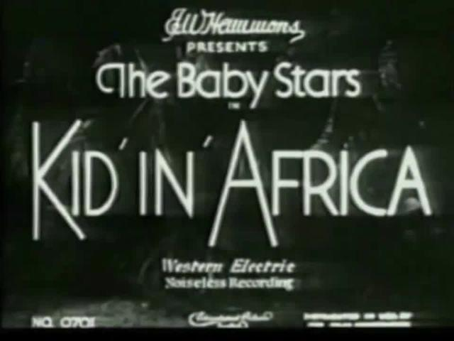Kid In Africa (1933)