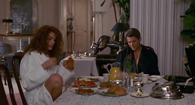 Pretty Woman Breakfast Scene