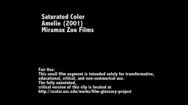 Saturated Color in Amelie