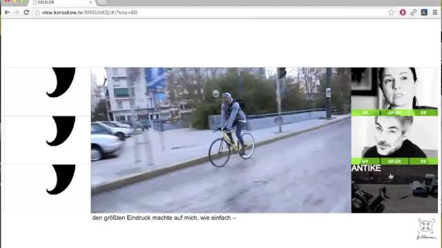 Money and the Greeks (geld.gr) Interview sequence with Bike messenger